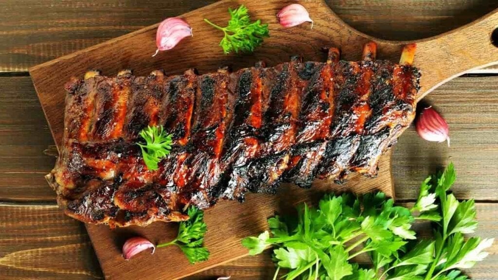 Calories in Pork Ribs with Bone