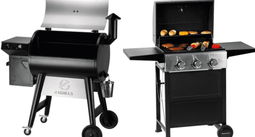 Pellet-and-gas-grill