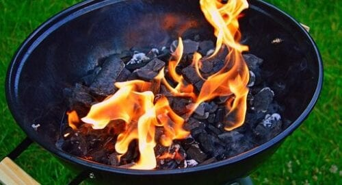 Can you Burn Wood on a Charcoal Grill