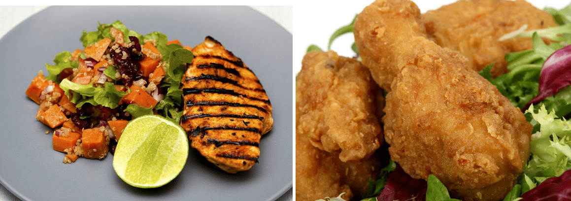 Grilled chicken vs Fried chicken