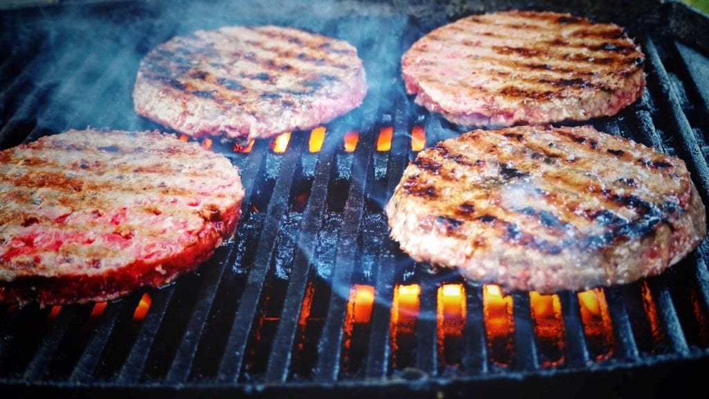How to Grill Turkey Burgers without Falling Apart: turkey burgers on grill