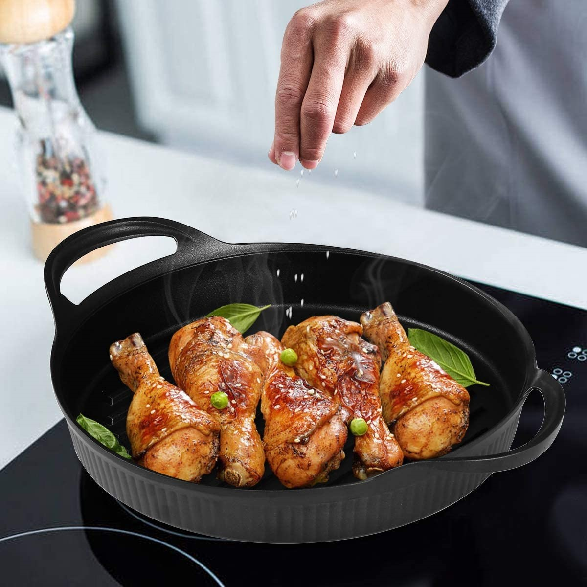 How to Use a Grill Pan on a Glass Top Stove