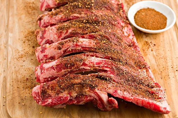 ribs with dry rubs